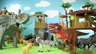 Hi kids, RaceToyTime here! Today, we are going to show and play with this Animal Planet Wildlife Treehouse with giant elephant playset. In this video, we also included the remote controlled animal transporter, some toy zoo animals, such giraffe, zebra, rhinoceros, lions and a dinosaur - Tyrannosaurus. Please subscribe to RaceToyTime channel if you haven't already done so. Like, share, and comment on our video. And, as always, thanks for watching!Subscribe to racetoytime here - https://www.youtube.com/channel/UCVTQrl1dtafYX08IBb7EhrwWatch our other videos:  Learn Animal Toys Names │ Zoo Animals Elephant Lion Tiger Rhino for Kids - https://www.youtube.com/watch?v=KnsmONvQyeYLearning Sea Animals Toy Sharks Whales Dolphin - https://www.youtube.com/watch?v=9i88w4UqPnADinosaur Surprise Toys Game in the Claw Machine -  Learn Dinosaurs Names For Children - https://www.youtube.com/watch?v=H8AkVqFrxhoJurassic World Mini Dinosaurs Figures Blind Bag Exclusive Indominus Rex  - https://www.youtube.com/watch?v=_bgyS74lUR8Playmobil City Zoo Toy Wild Animals Building Set Build Review - https://www.youtube.com/watch?v=g5dbYcmUHZ8Playmobil City Life Large Zoo Toy Wild Animals Building Set Build Review - https://www.youtube.com/watch?v=IZXfiFPyW8EDinosaurs 3D Puzzles Animals Eggs Surprise Toys - Spinosaurus Ankylosaurus Pteranodon - https://www.youtube.com/watch?v=VJuukvLmpSgDinosaur Transforming Eggs Toys - Tyrannosaurus Rex Pterodactyl Velociraptor Triceratops - https://youtu.be/HT_CFeMP9GkToy Wild Animals 3D Puzzles Collection - Lion Panda Elephant Zebra Tortoise │ Animals for children - https://youtu.be/yabb98z1WC8Playmobil Toy Wild Zoo Animals Collection For Kids - Tiger Panda Koala Gorilla - https://youtu.be/L06I3WiWjNsPLAYMOBIL Country Farm Animals Pen and Hen House Building Set Build Review  - https://www.youtube.com/watch?v=dGplrNa-NZkPLAYMOBIL Toy Wild Zoo Animals Collection For Kids - Tiger Panda Koala Gorilla - https://youtu.be/L06I3WiWjNsPlaymobil Safari Wild Animals Buidi