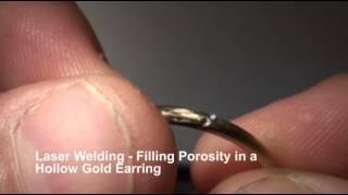 Laser Welding - Hollow Earring Hole Repair