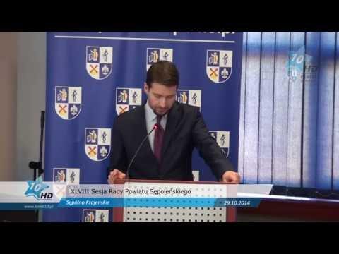 XLVIII Sesja Rady Powiatu Sępoleńskiego, 29.10.2014 r.