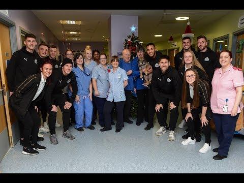 Video: Newcastle United | United stars visit local hospitals