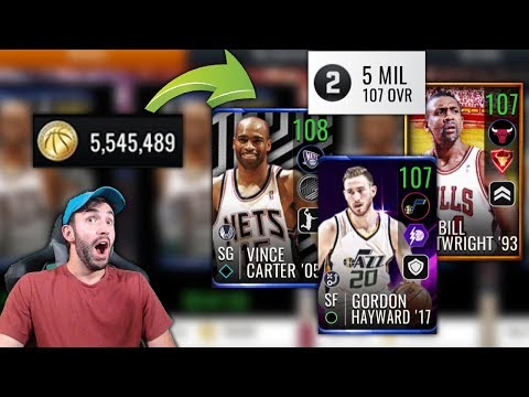THE BEST POSSIBLE TEAM FOR 5 MILLION COINS IN NBA LIVE MOBILE!