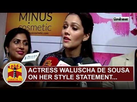 Bollywood-Actress-Waluscha-de-Sousa-on-her-Style-Statement-Thanthi-TV