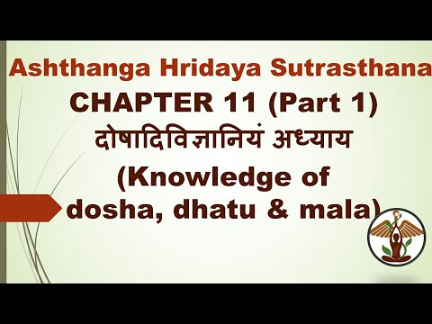 Video Chapter 11 (Part 1), Ashtanga Hridaya Sutrasthana, BAMS 1st year ayurveda download in MP3, 3GP, MP4, WEBM, AVI, FLV January 2017
