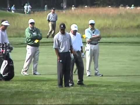 Tiger Woods' practice round, Tuesday, before the start of the 2002 US Open