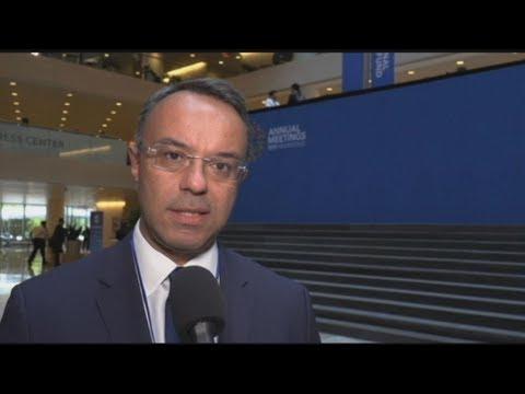 Μήνυμα «ρεαλιστικής αισιοδοξίας» για την οικονομία εξέπεμψε ο Χρ. Σταϊκούρας στη Σύνοδο του ΔΝΤ