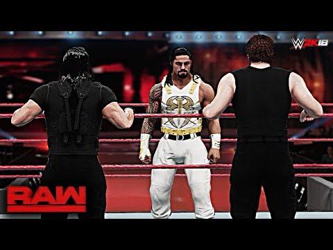 WWE 2K18 Custom Story - ROMAN REIGNS Turns Heel & Attacks The Shield Raw 2017
