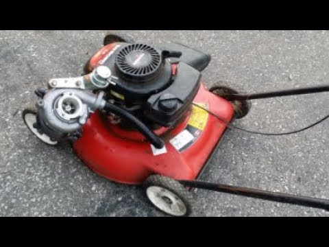 DIY Turbocharged Lawnmower Project