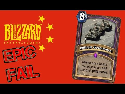 Blizzard done CENSORED Up! Hearthstone Player BANNED for HK Protest!