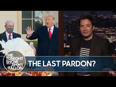 Trump Pardons His Last Thanksgiving Turkey   The Tonight Show