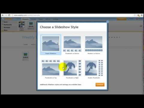 How to Use Weebly Slideshow Element