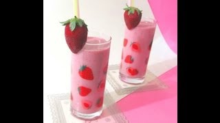 Strawberry Milk Shake recipe in Tamil