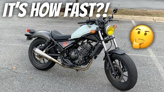 2. How Fast IS The New Honda Rebel 300?!?! Top Speed, Highway Capabilities, and More!