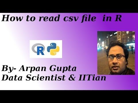 How to read csv file in R