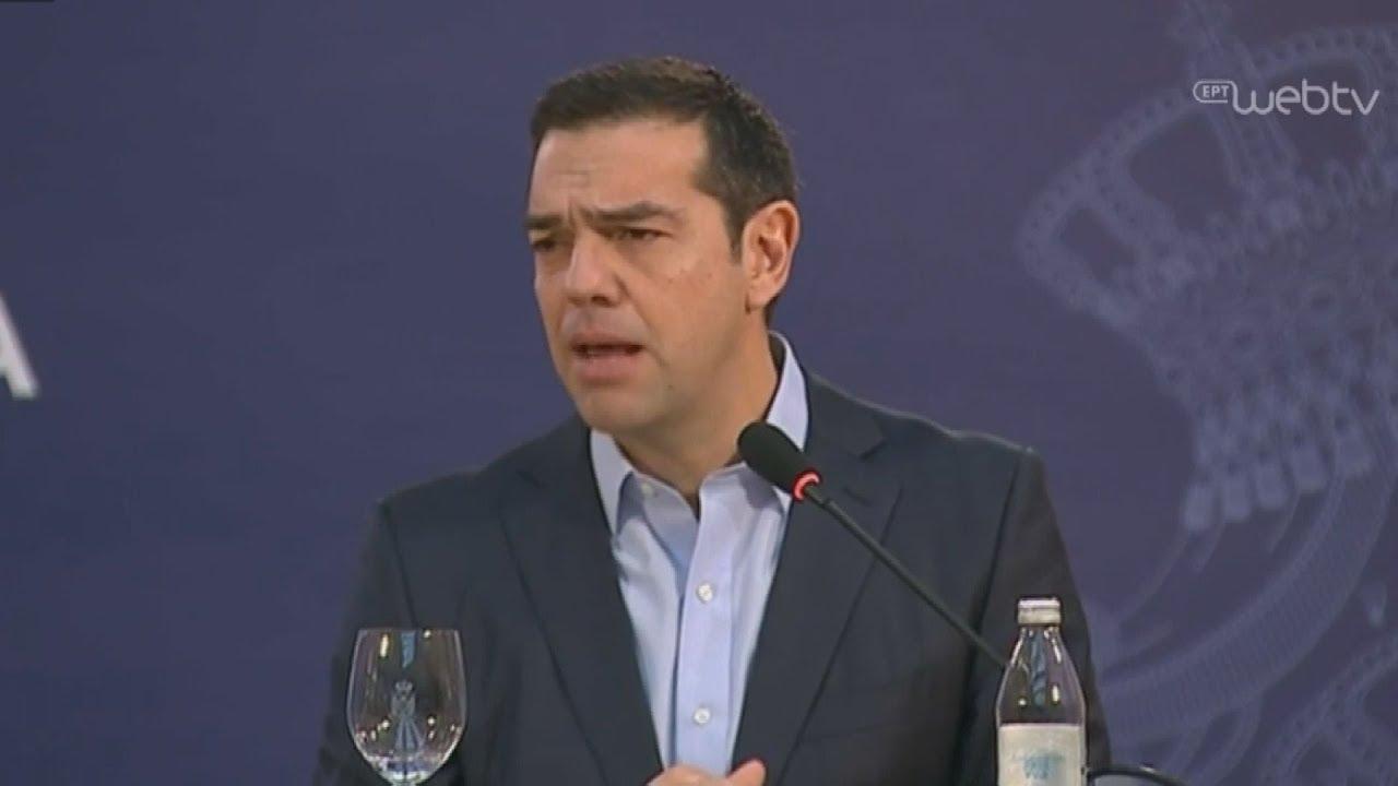 Αναφορά Α.Τσίπρα στην λύση του  σκοπιανού ζητήματος στη 2η Τετραμερή Βαλκανική Σύνοδο