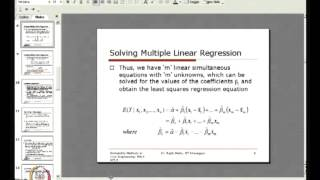 Mod-01 Lec-40 Regression Analyses And Correlation (Contd.)