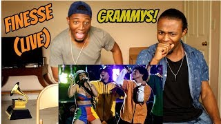 Download Lagu Bruno Mars and Cardi B - Finesse (LIVE From The 60th GRAMMYs ®)(REACTION) Mp3