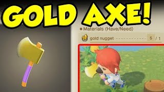 Getting A GOLD AXE In Animal Crossing New Horizons! by Verlisify