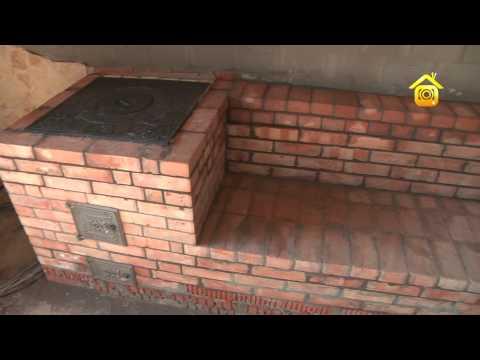 Сделать печь из кирпича на улице