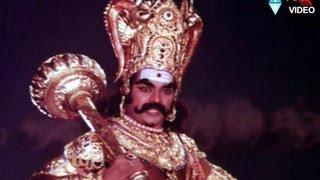 Chiranjeevi ..in Savitri Natakam as yama dharmaraju| Chattam tho Poratam| Chiranjeevi, Madhavi,
