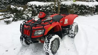 7. Back with an arctic cat 700 diesel