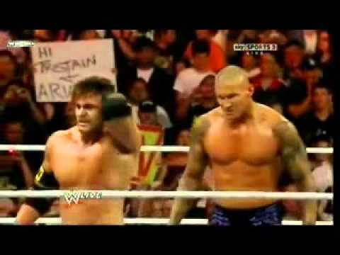 WWE Randy Orton destroys Sheamus