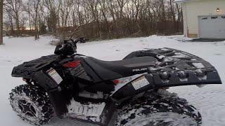 6. 2015 Polaris Sportsman XP 1000 ATV Snow NJ trails