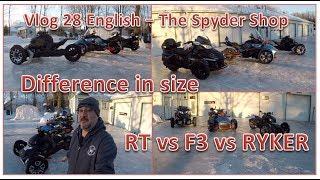 9. RYKER vs Spyder F3 vs Spyder RT - Difference in sizes - The Spyder Shop