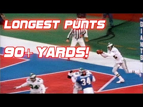 NFL Top 5 Longest Punts of All Time