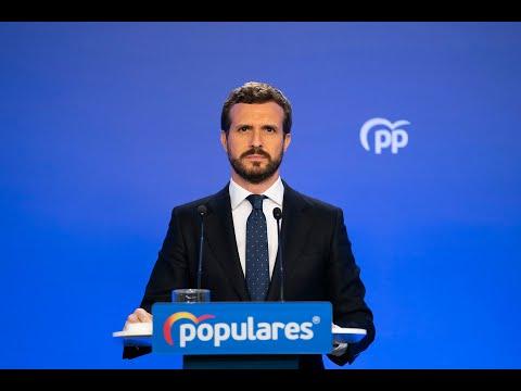 """Casado exige a Sánchez """"un mando único"""" para coordinar todas las medidas sanitarias y económicas"""