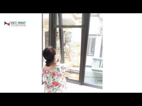 Cửa lưới chống muỗi tự cuốn Việt Nhật mới nhất năm 2020 02