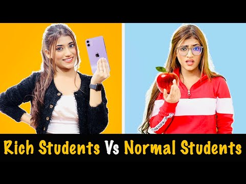 Rich Students Vs. Normal Students | SAMREEN ALI