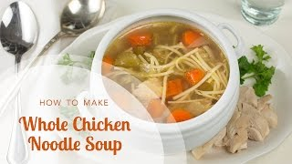 In this video Aviva Goldfarb shows you how to make whole chicken noodle soup in the slow cooker or crock pot for the easiest,...