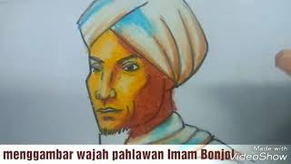 Download Video Menggambar dan mewarnai wajah pahlawan nasional Imam Bonjol dengan crayon/tema hari pahlawan MP3 3GP MP4