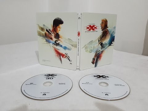 xXx Return Of Xander Cage 3D Steelbook Edition  Blu ray Movie unboxing