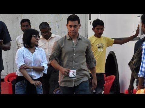 Aamir Khan Working At Mehboob Studio