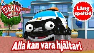 En samling filmer med temat: Alla kan vara Hjältar. Avsnitten är på svenska och för barn 2-6 år. Stadens Hjältar - en TV-serie om räddningsfordonen i den lilla staden där alla får vara hjältar! Följ med på fantastiska och spännande äventyr tillsammans med Palle Polisbil, Bella Brandbil och alla det andra vännerna i staden.Stadens Hjältar innehåller mycket värme, betonar vikten av en stark vänskap och vad vi kan uppnå genom att hjälpa varandra.Stadens Hjältar finns även att ladda ner gratis som app!App Store: https://itunes.apple.com/se/app/stadens-hjaltars-film-app/id602592310/Google Play: https://play.google.com/store/apps/details?id=com.rutaett.HeroesMovie&hl=se