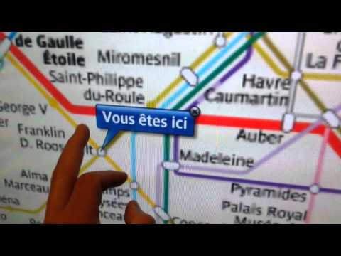 PARIS METRO SUBWAY TOUCH SCREEN MAPS, COOL FREE GUIDE