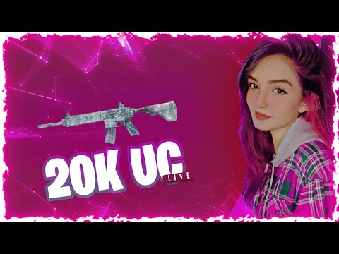 20K UC CRATE OPENING ON LIVE STREAM - PUBG MOBILE - LILY LIVE GAMING