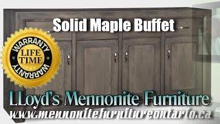 Mennonite Solid Maple Buffet