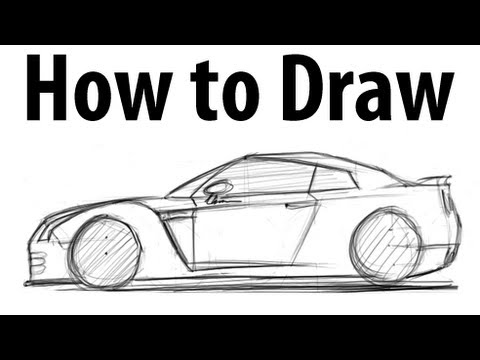 How To Draw A Nissan Gt R