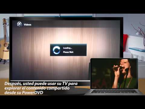Video 2 de PowerDVD: Reproducir videos y música en un TV DLNA con PowerDVD