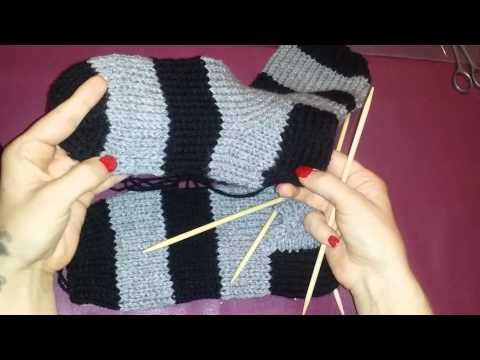 Socken stricken für anfänger teil 7