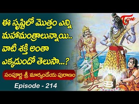 Markandeya Puranam #214 | ఈ సృష్టిలో ఎన్ని మహా మంత్రా�