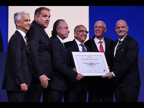 FIFA WC 2026 Host Country Bidding - Canada/Mexico/USA Press Conference.