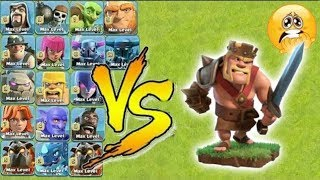 King Vs All Troops in Coc - Unbelievable Gamplay - who will win-Clash of clans-unity clash!!!