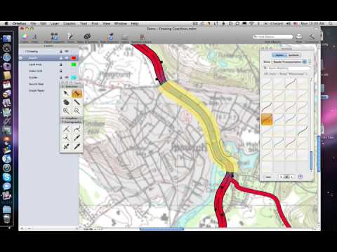 Drawing Road Curves and Junctions With Ortelius Map Illustration Software
