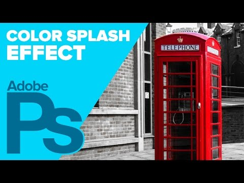How to Achieve a Cool Color Splash Effect in a Black and White Photo