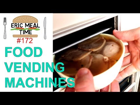Hot Food Vending Machines in Japan - Eric Meal Time #172 (видео)