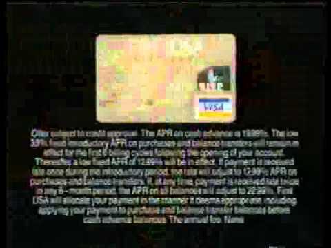 The First USA Platinum Visa Card
