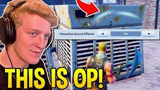 TFUE *SHOCKED* FINDING SECRET SETTING THAT SHOWS FOOTSTEPS and CHEST LOCATIONS! - Fortnite Moments